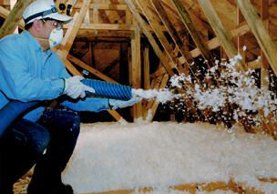 installation of attic insulation
